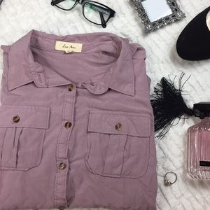 Soft Purple Classic button Down Top